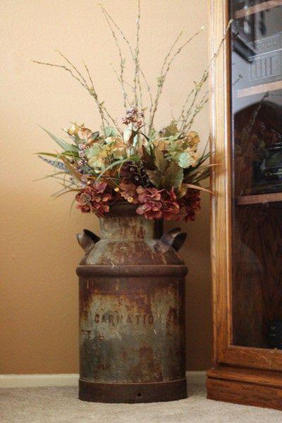 φθινοπωρινή διακόσμηση - βάζο