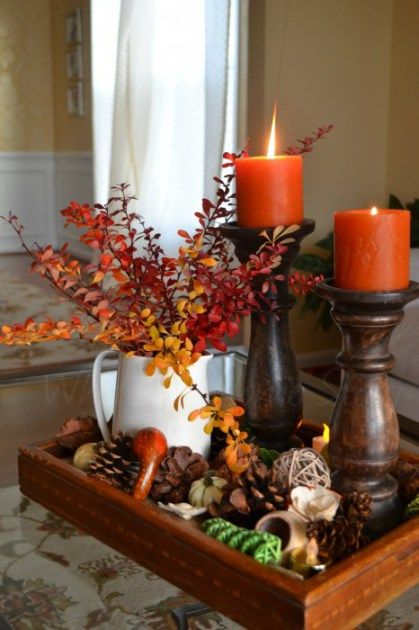 φθινοπωρινή διακόσμηση - διακοσμητικά τραπεζιού