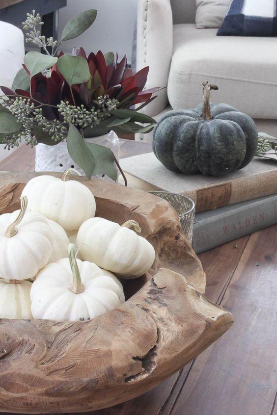 φθινοπωρινή διακόσμηση - τραπέζι