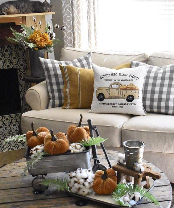 φθινοπωρινή διακόσμηση - σαλόνι